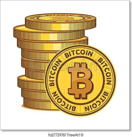 561x581 Free Art Print Of Bitcoin Vector Icon Freeart Fa27729767