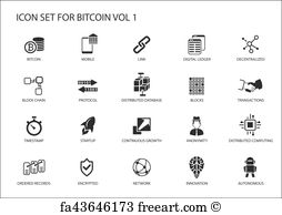 254x194 Free Art Print Of Cryptocurrency Vector Icons. Different