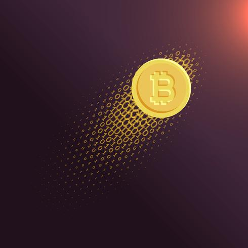 490x490 Digital Internet Currency Bitcoin Vector Background