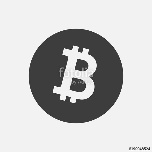 500x500 Bitcoin Btc Vector Icon Isolated On White. Cryptocurrency, E