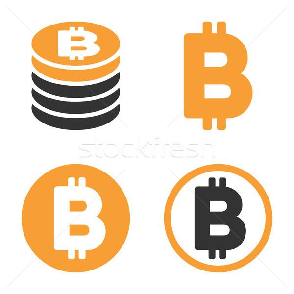 600x600 Bitcoin Vector Icon Set Vector Illustration Victor Ivlichev