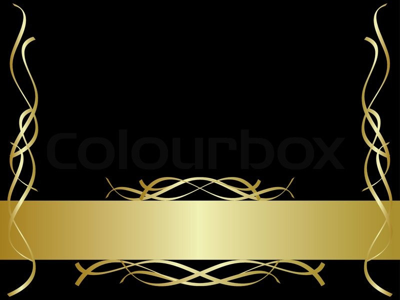 800x600 Black And Gold Background Stock Vector Colourbox