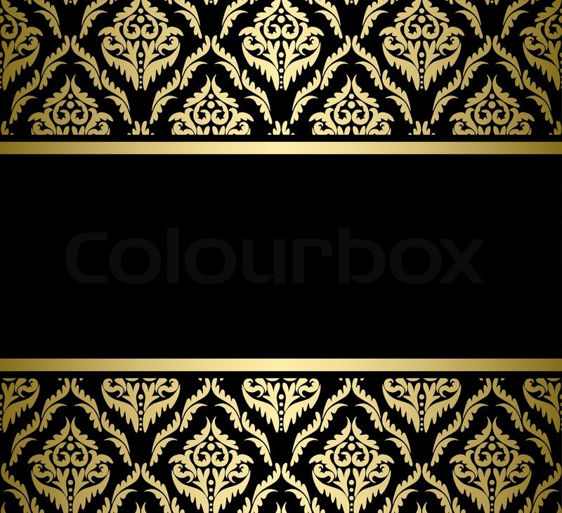 800x730 Black Bright Card With Gold Pattern