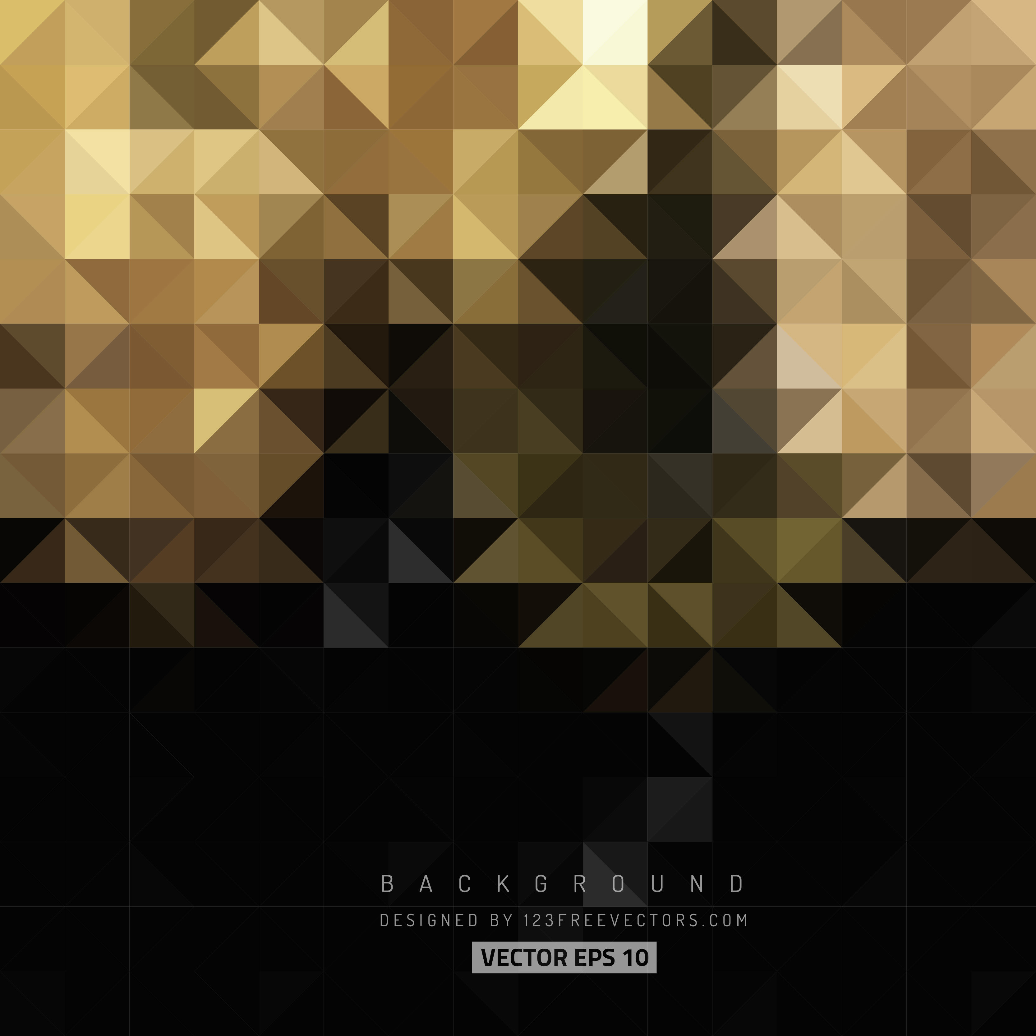 3333x3333 Black Gold Abstract Triangle Shape Background 123freevectors
