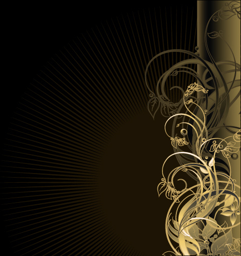 470x500 Gold Floral Vector Backgrounds Art Free Vector In Encapsulated
