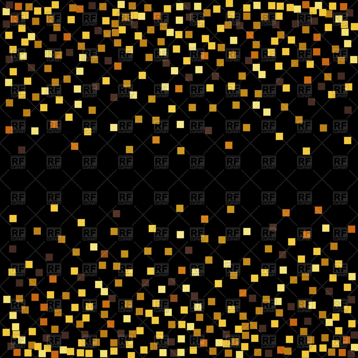 1200x1200 Gold Glitter Confetti On Black Background Vector Image Vector