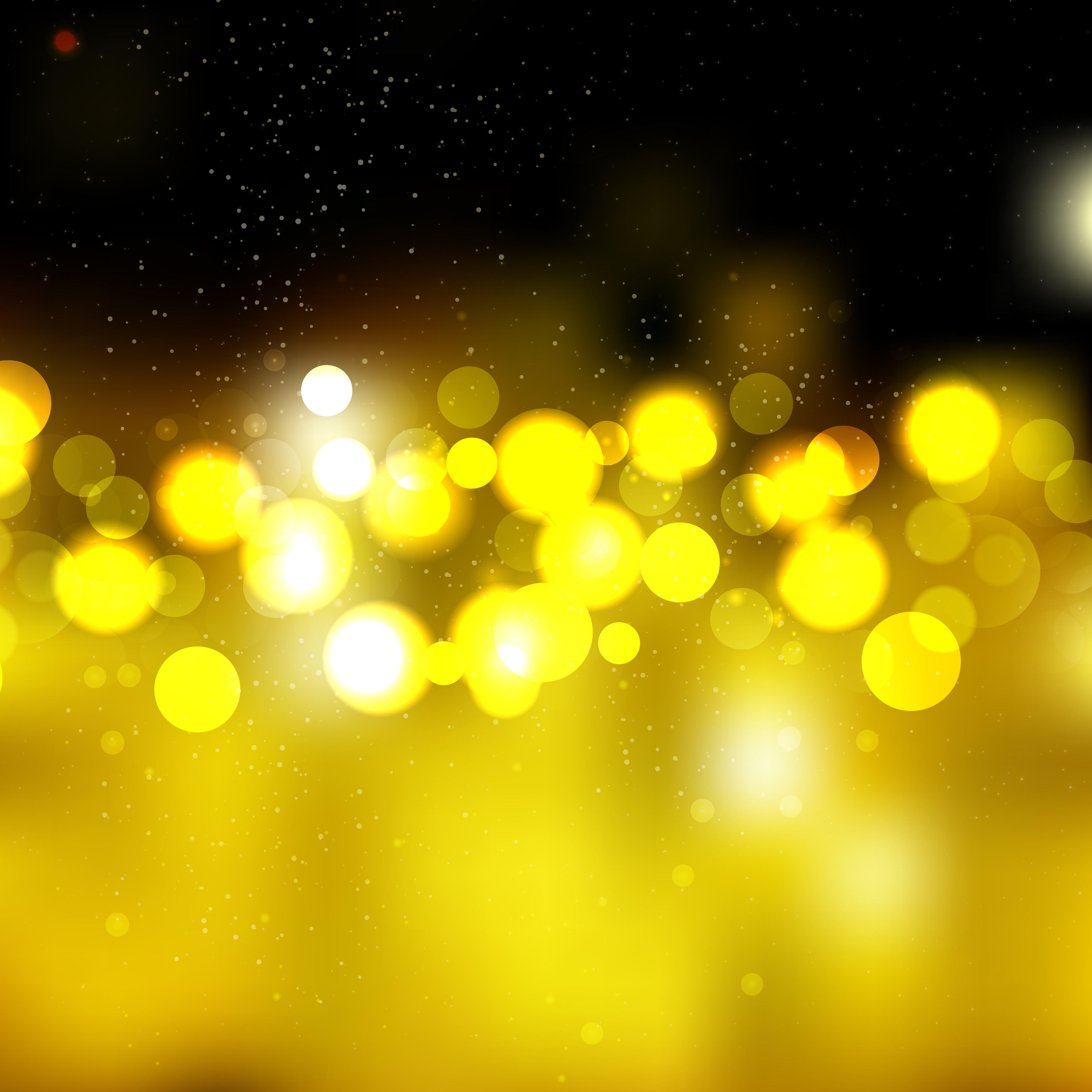 3333x3333 Black Gold Bokeh Abstract Vector Background 123freevectors