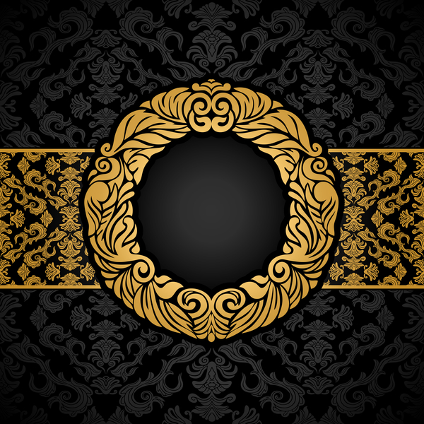 600x600 Luxury Black And Gold Vintage Frame Vector Free Download