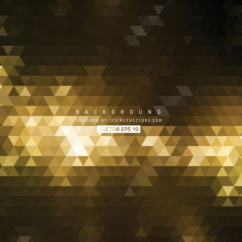 800x800 Black Gold Triangle Shape Background Vector Gold Background