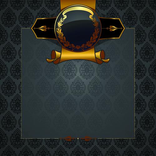 500x500 Black Golden Ornate Backgrounds Vector 01 Free Download