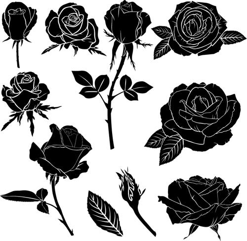 500x488 Black Rose Vector Illustration Free Download