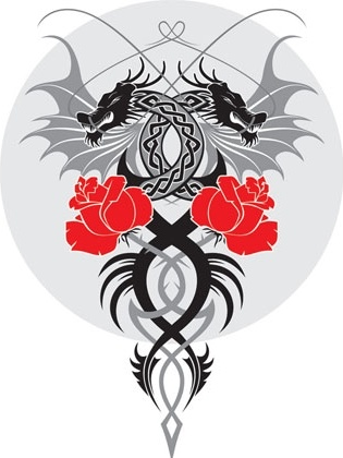 315x420 Dragon And The Rose Vector Free Vector In Adobe Illustrator Ai