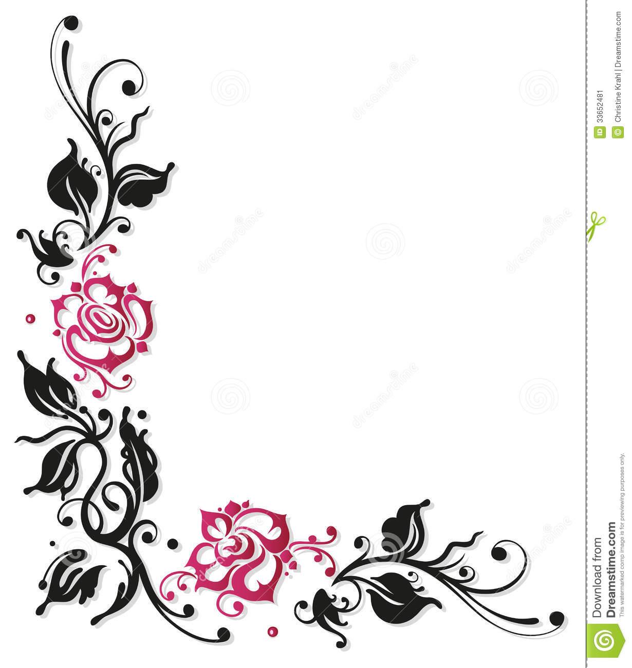 1230x1300 White Rose Border Clipart