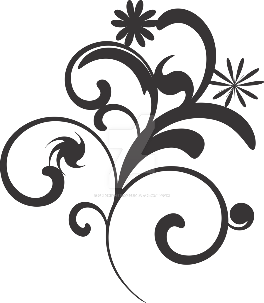 900x1032 Flower Vector Black And White Png