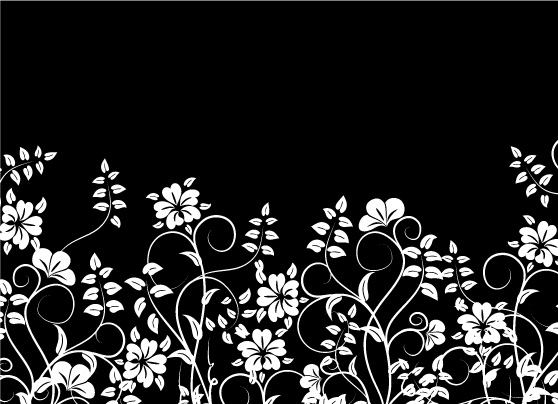558x404 Flowers And Black And White Vector Free Vector 4vector