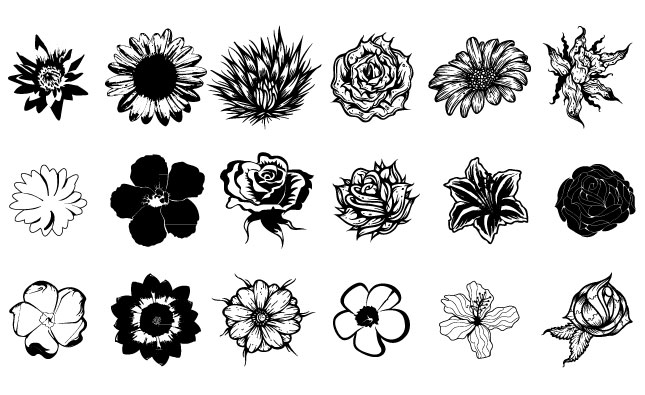 645x395 Flowers Vector Pack