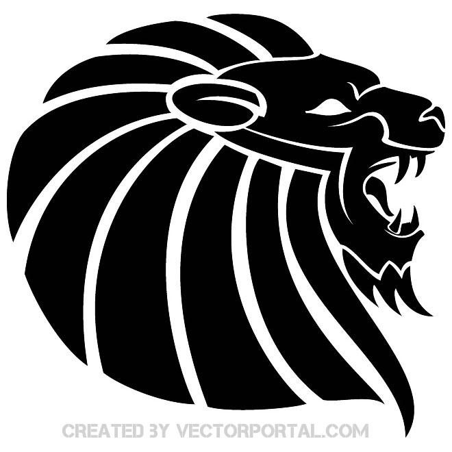 660x660 Lion Black White Image Free Vector 123freevectors