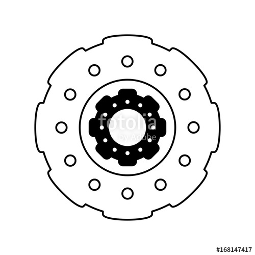 500x500 Two Gears Icon Image Vector Illustration Design Black And White