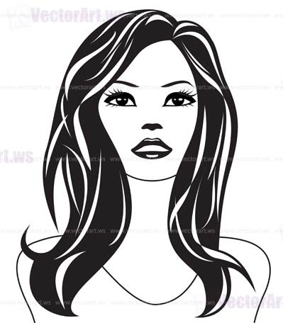 399x456 Abstract Woman Black And White Portrait