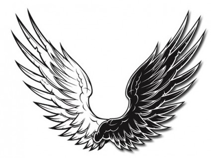 425x319 Black And White Vector Wings Black And White Vector Wings Vector
