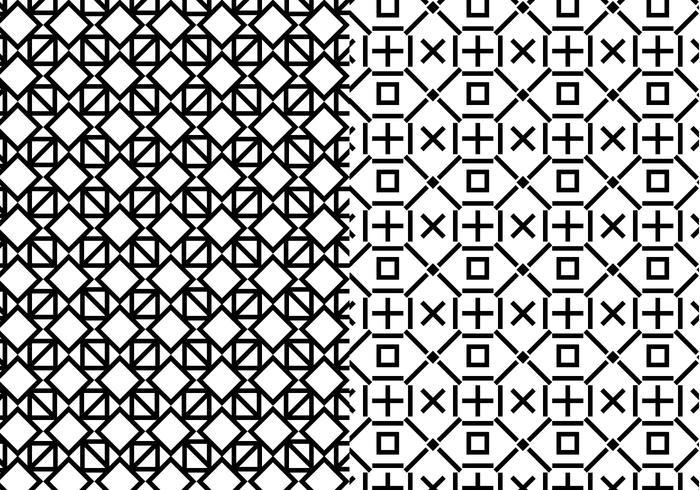 700x490 Black White Geometric Pattern
