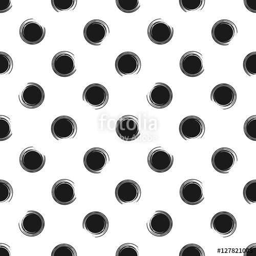 500x500 Abstract Seamless Pattern Of Grunge Polka Dots, Hand Painted