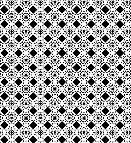 550x600 Black And White Free Geometric Abstract Seamless Vector Pattern