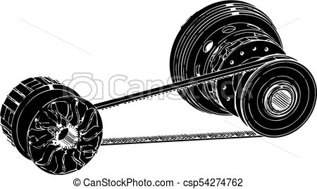 450x269 Black Belt, Vector. Belt Gear On A White Background, Vector Image.