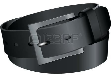 450x314 Belt Without Metal Black Leather Belt Vector Illustration Without