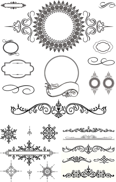 384x600 Black Decorative Border Vector Free Vector In Encapsulated