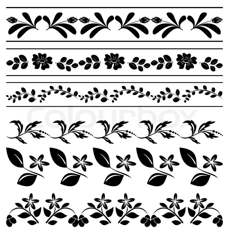 785x800 Floral Vector Borders