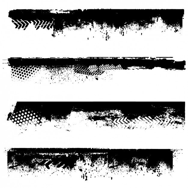 626x626 Grunge Black Borders Vector Free Download