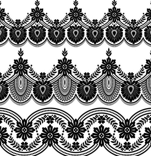 519x539 Lace Black Border Vector Free Download