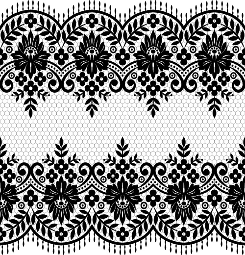 500x520 Seamless Black Lace Borders Vectors Free Vector In Encapsulated