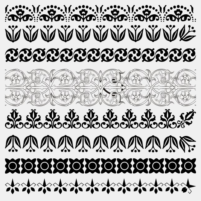 646x646 Black And White Lace Border Vectors Vector Art Amp Graphics