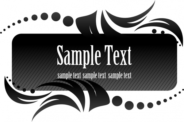 600x400 Black Aesthetic Text Box Vector Free Vector In Encapsulated