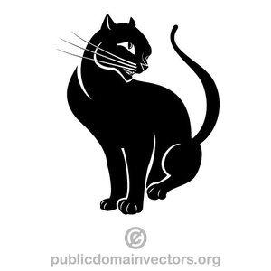 Black Cat Vector
