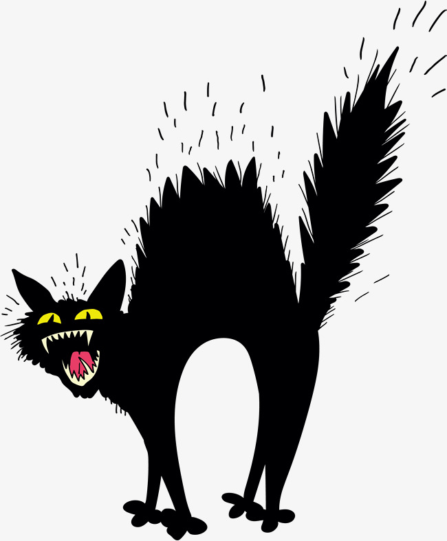 650x788 Scary Black Cat, Vector Png, Black Cat, Horrible Black Cat Png And