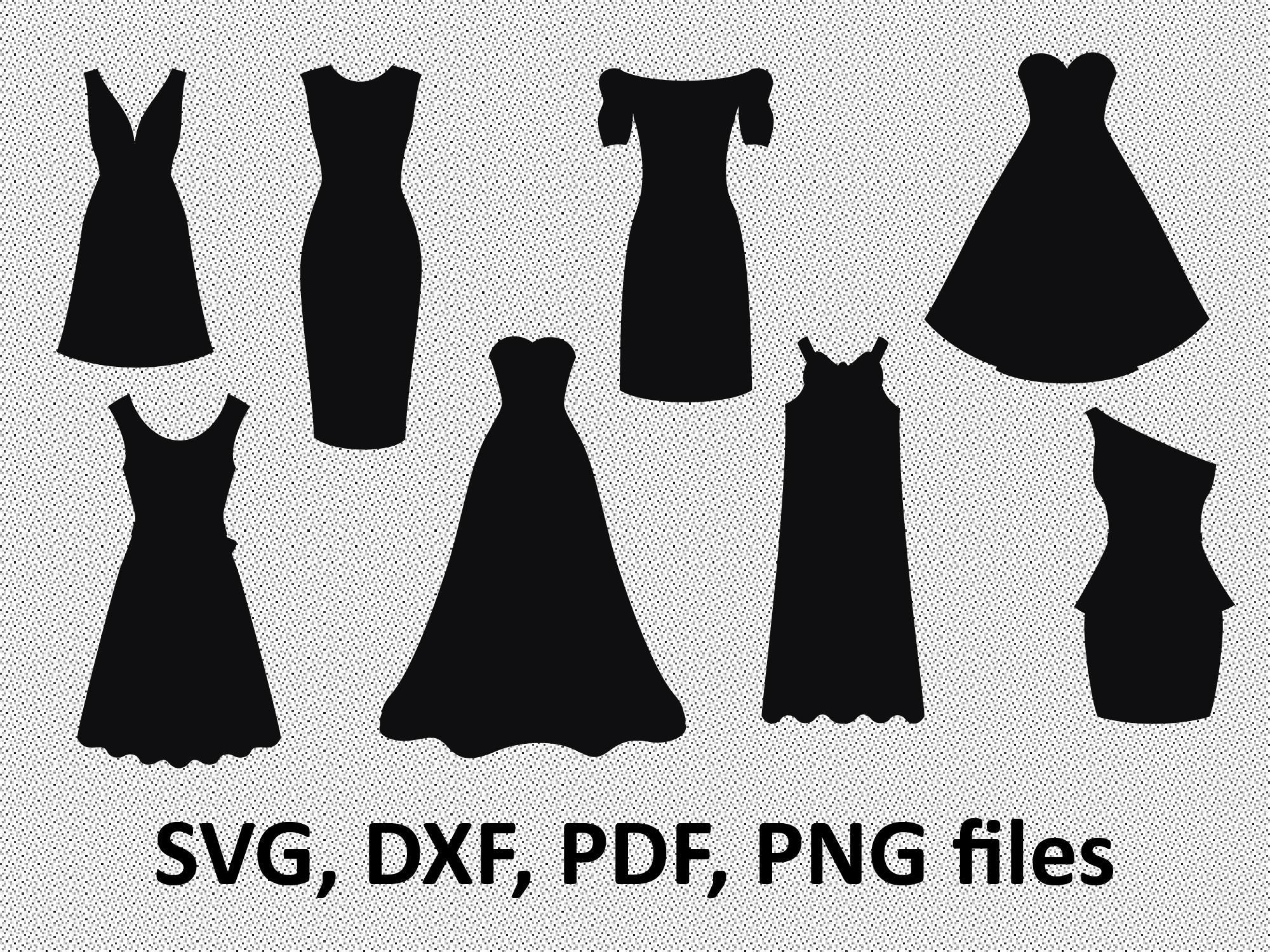 2000x1500 Dress Svg Dress Dxf Dress Clipart Dress Files Printing Etsy