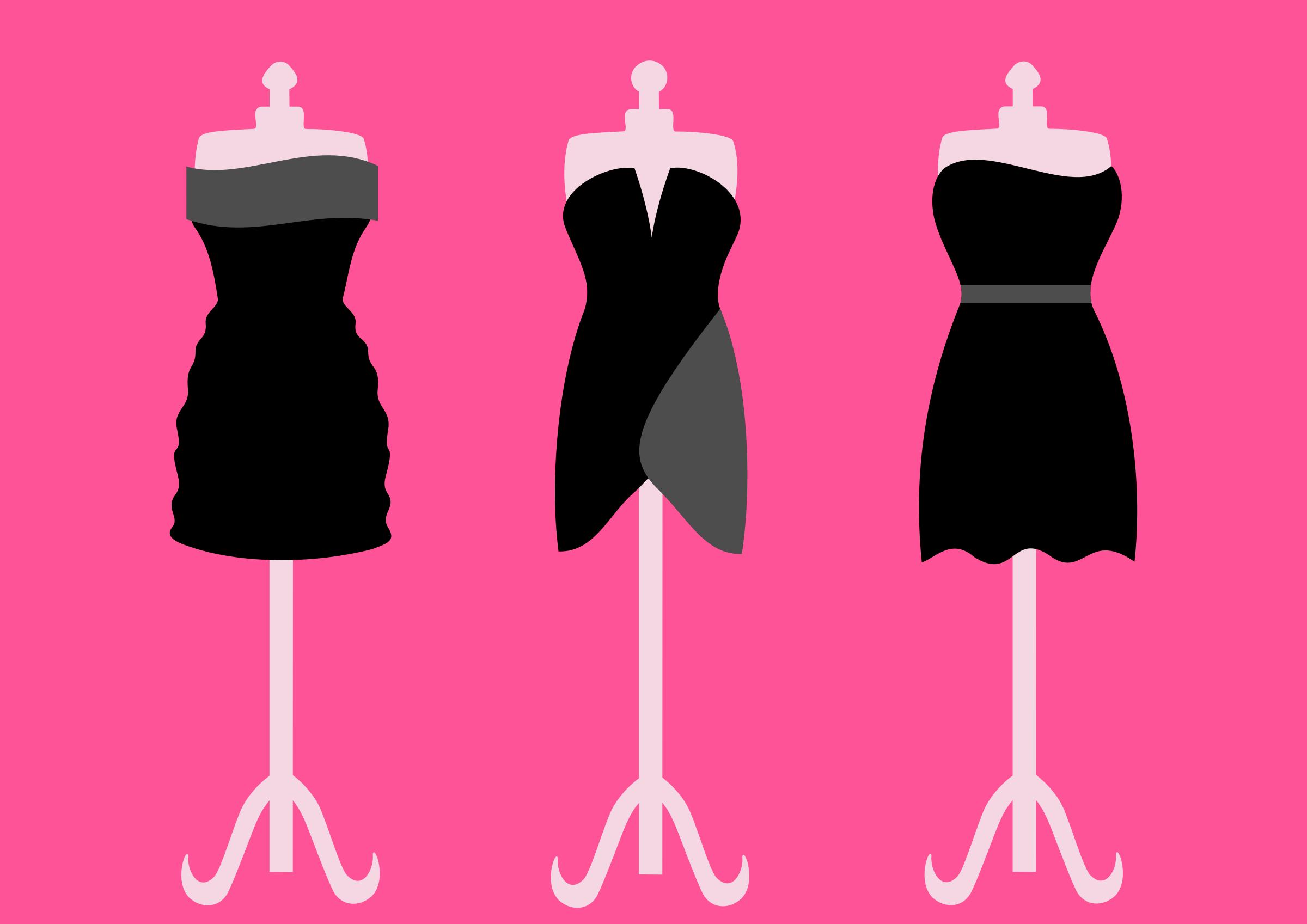2400x1697 Gown Clipart Little Black Dress