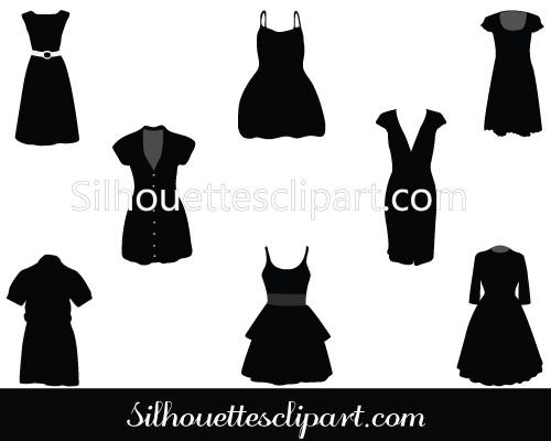 500x400 Party Dresses Vector Graphics Download Dress Silhouette