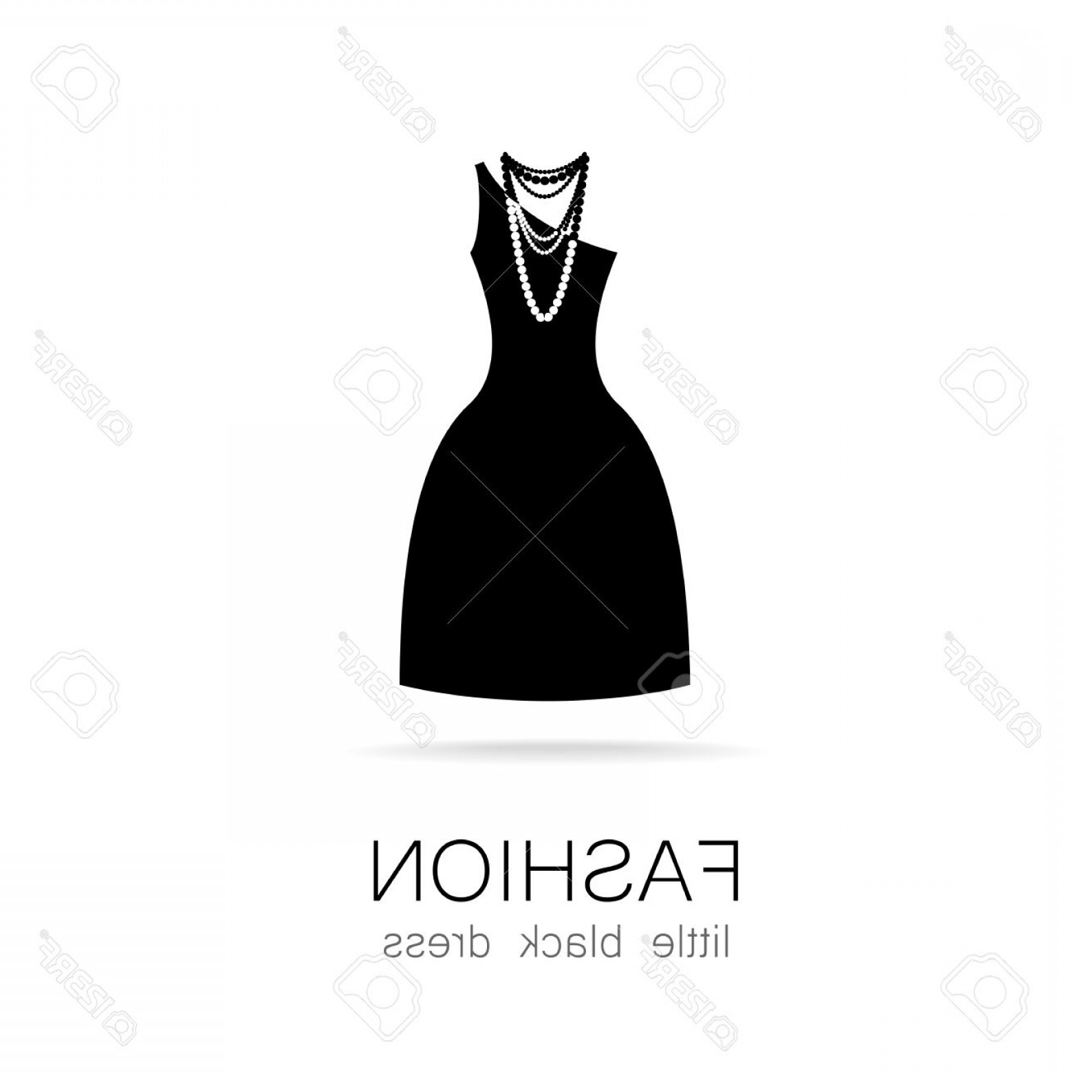 1560x1560 Photostock Vector Black Dress Classic Fashion Template Logo For A