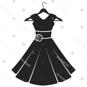 300x300 Silhouettes Of Women In Dresses Vector Clipart Lazttweet