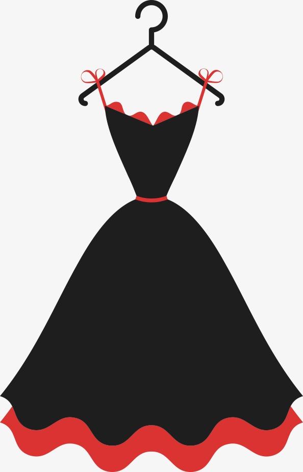 594x925 Vector Black Dress, Black Vector, Dress Vector, Black Dress Png