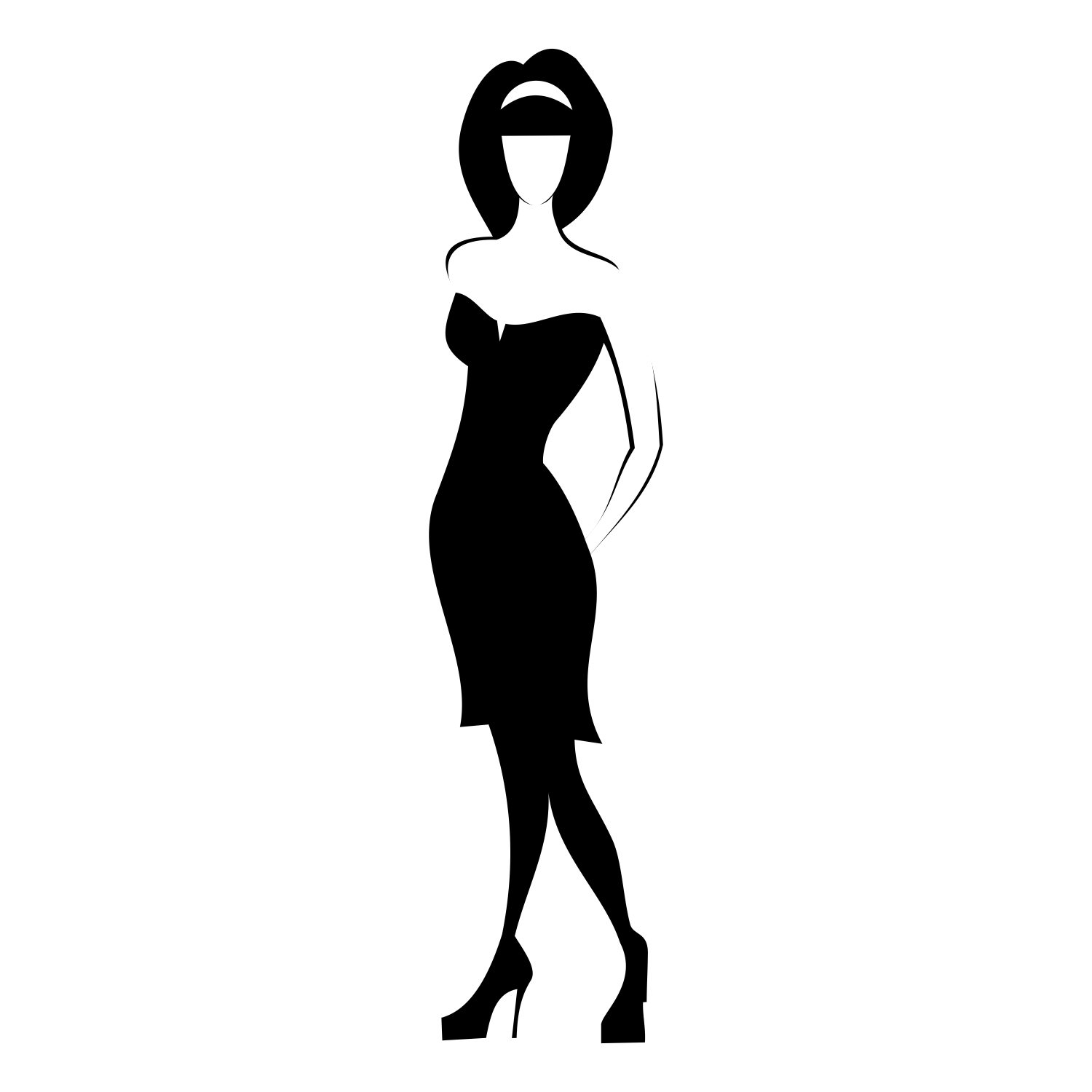 1500x1500 Vector For Free Use Woman In Black Dress