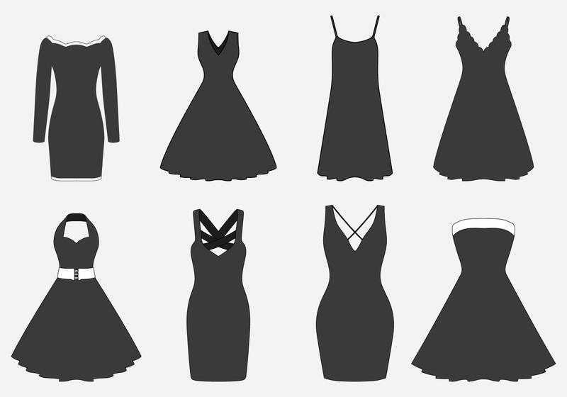 800x560 Black Dresses Set