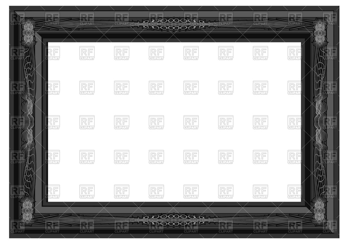 1200x849 Black Ornate Wall Frame Vector Image Vector Artwork Of Borders