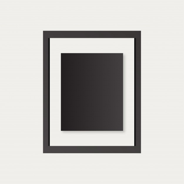626x626 A Realistic Black Frame Vector Free Download