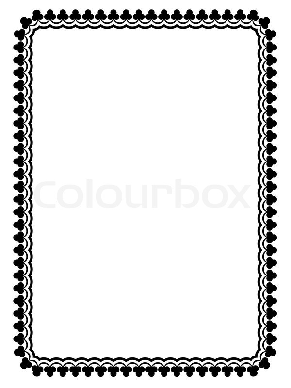 600x800 Simple Black Ornamental Decorative Frame Stock Vector Colourbox