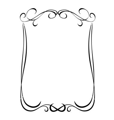 380x400 Simple Black Ornamental Decorative Frame Vector 1151945